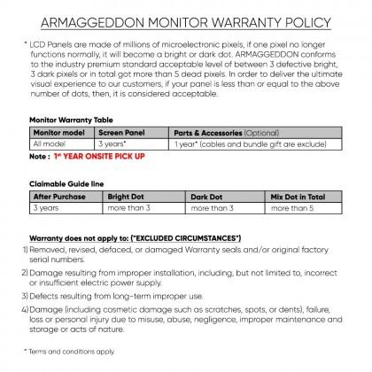 "Armaggeddon Pixxel+ XC27HD SUPER Xtreme Curve Gaming Monitor (27""/165Hz/2ms/G-Sync) [Free HDMI Cable & Mug]"