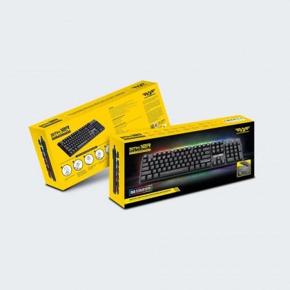 Armaggeddon SMK-12R RGB Kestrel Outemu Switch Mechanical Keyboard | 104 Key Low-Profile | Free Type C Converter