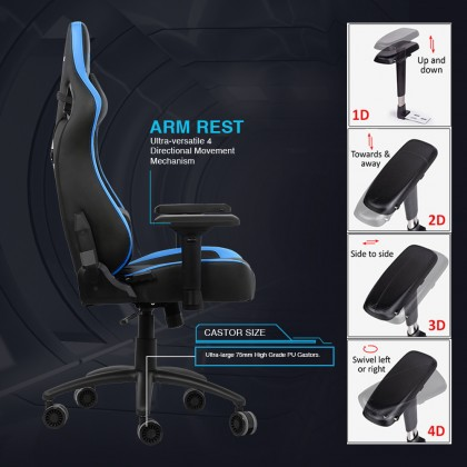 Armaggeddon Nebuka III Premium PU Leather Ultimate Gaming Chair | Cold-Cure Moulded Foam
